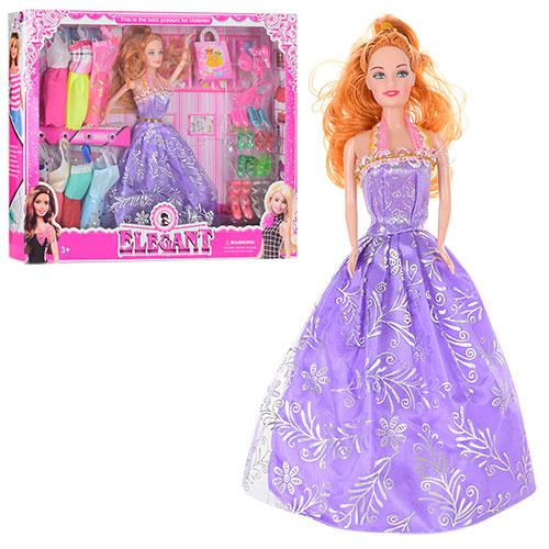 Кукла с нарядом P1983 (40шт) 28см, платья 8шт, аксессуары, в кор-ке, 38-32-5,5см