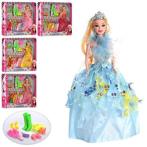 Кукла с нарядом 861A (48шт) 28см,платья8шт,сумочка,аксессуары,микс видов,в кор-ке,38-33-5,5см