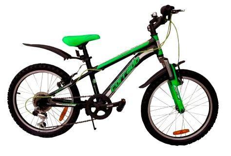 """Детский велосипед CORRADO MTB TAURUS 20""""  Черный/Салатовый"""