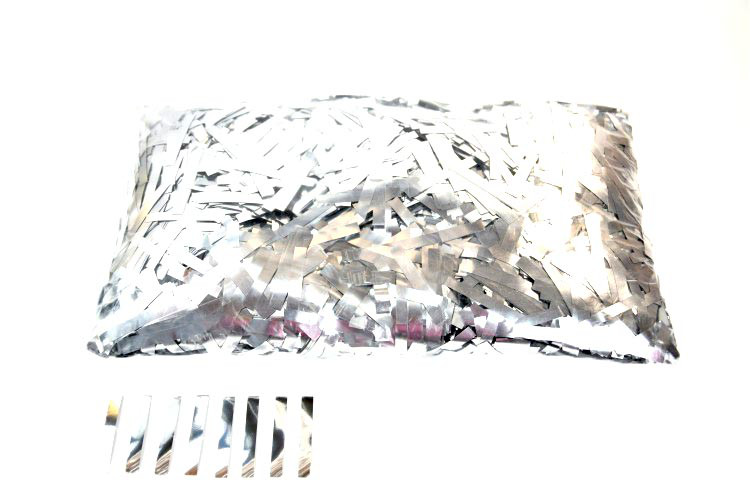 Конфетти тонкие полоски серебро. Вес:50гр.