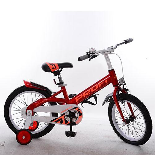 Велосипед детский PROF1 18д. W18115-1 (1шт) Original,красный,крылья,звонок,доп.колеса