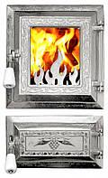 Дверца для печи и барбекю Огонек светлый раздельный, печная дверца со стеклом