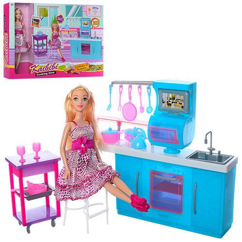 Мебель BLD132 (12шт) кухня, плита, духовка, посуда, кукла 29см, в кор-ке, 44,5-34-6,5см