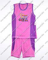 Гр а.22.b.0743.р.64 /светло фиолетовый/ м.К-т тениска комб. с бриджами