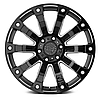BLACK RHINO SELKIRK Gloss Black with Milled Spokes, фото 2