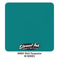 Краска для татуировочных работ Eternal  ink M Series. Rich Turquoise 1/2 oz