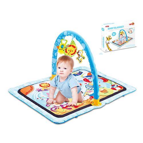 Коврик для младенца 023-45D (12шт) прямоугольный 64-84см,,дуга,подвески 3шт, в кор-ке,55,5-19-6,5см