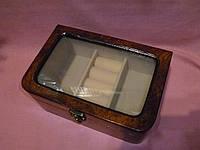 Деревянная шкатулка с отделениями для украшений  22,5х15х8см