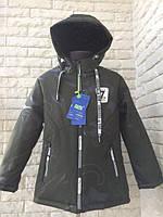Детская куртка ветровка на мальчика 4,5,6,7,8 лет 110-134см см. Демисезонная куртка. Хаки