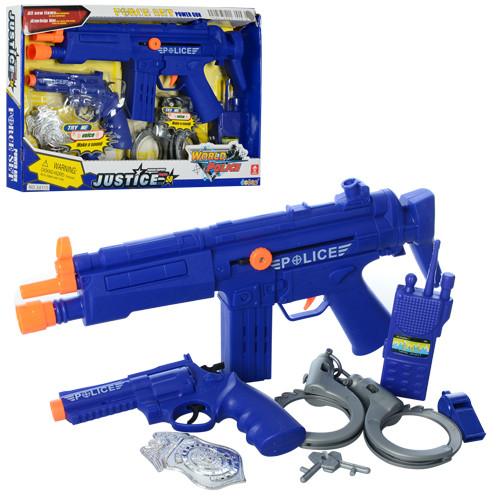 Набор полицейского 34110 (48шт) автомат, пистолет, наручники, свисток, в кор-ке, 40,5-26-4см