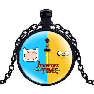 Кулон Adventure time героический Финн Время приключений черный