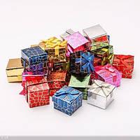 Коробочка подарочная цветная квадратная для колец и серёжек