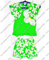 """Гр КП-205 """"1"""" /р.74/ /салатовый/ Комплект для девочки: туника с шортиками"""
