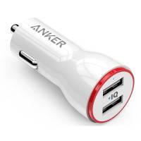 Авто зарядка ANKER PowerDrive 2 24W + micro USB 0.9m V3 (Белый)