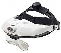 Бинокулярные очки MG81001H с LED подсветкой, увеличение: 1Х 1,5Х 2Х 2,5Х 3,5Х