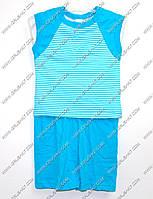 """Гр КС-9 """"1"""" /р.104/ /голубой в полоску/ Комплект для мальчика: безрукавка с шортами"""