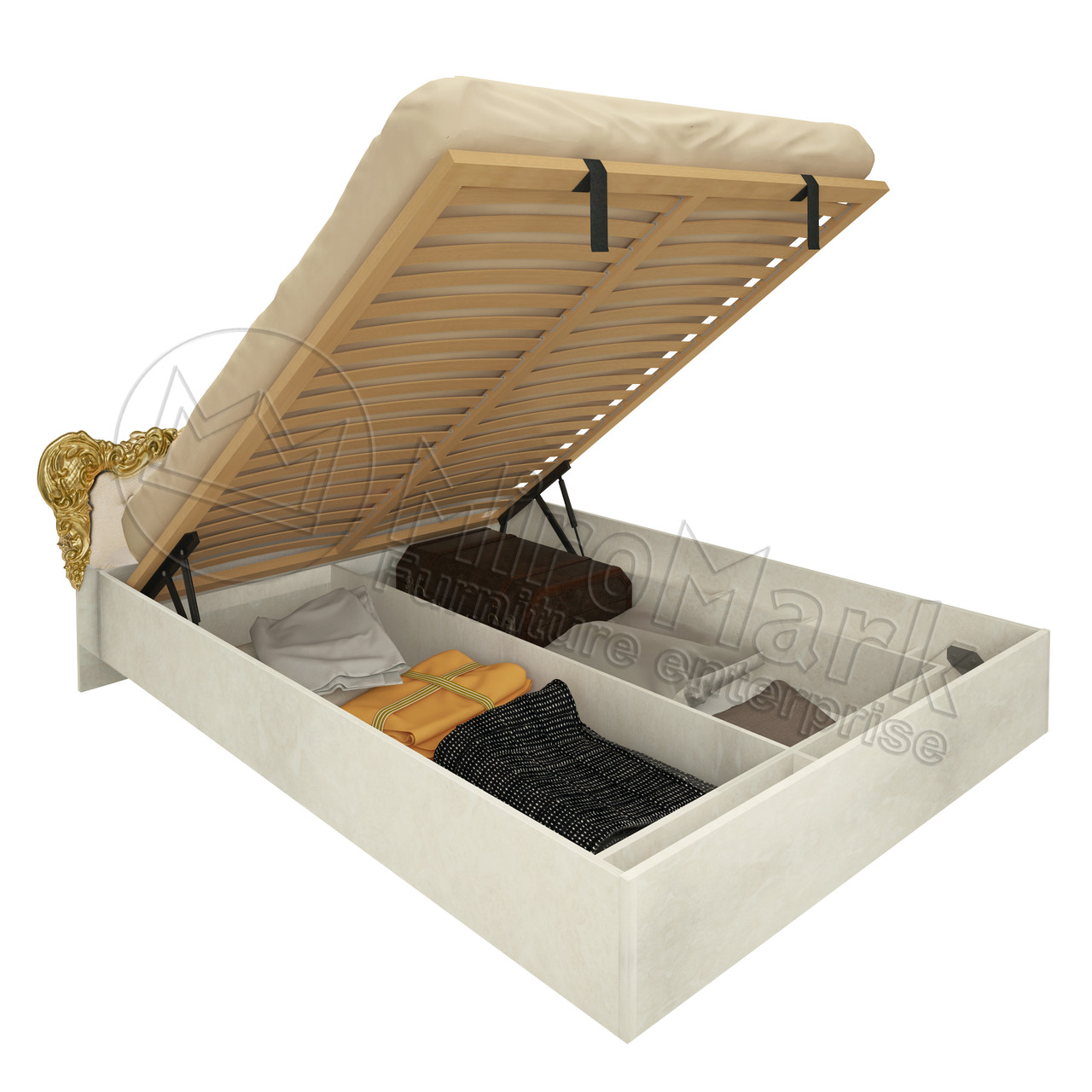 Кровать «Дженнифер» 1,8 мягкая спинка с подъемником. Миро Марк.