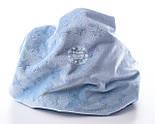 Плюшевая ткань голубого цвета со звёздами, фото 4