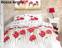 "Постельное белье First Choice (евро-размер) ранфорс № ""Bozca Kirmizi"", фото 1"