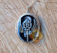 Медальон Ключ с крыльями (для фото) (стимпанк)