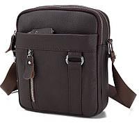 Мужской мессенджер из натуральной кожи, сумка A25-6619C