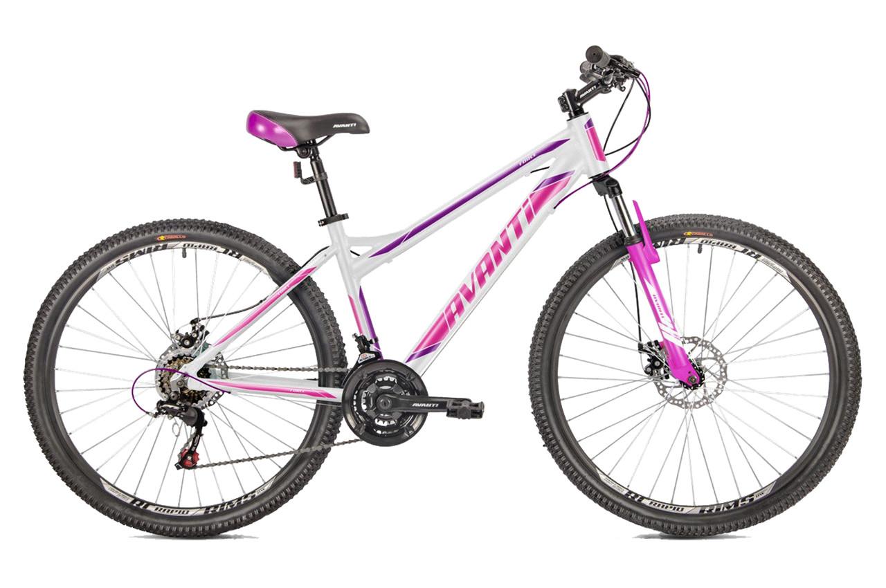 """Горный велосипед AVANTI FORCE 27,5"""" 16""""  Белый / Фиолетовый"""