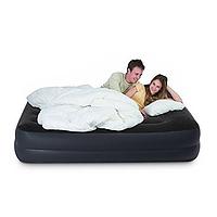Надувная  двухспальная кровать Intex 64124 с ел. насосом, фото 1