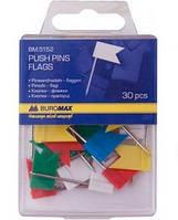 Кнопки-гвоздики цветные BUROMAX флажки