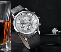 364бел - Наручные мужские часы с черным ремешком