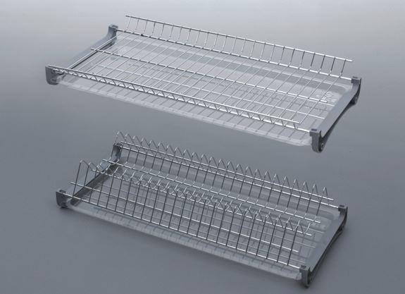 Сушка для посуды хромированная Эффект ширина 400 мм без рамы Rejs