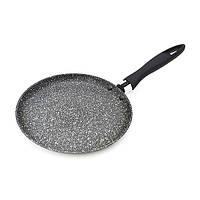 Сковорода для блинов Fissman FIORE 20 см (Мраморное антипригарное покрытие c индукционным дном)