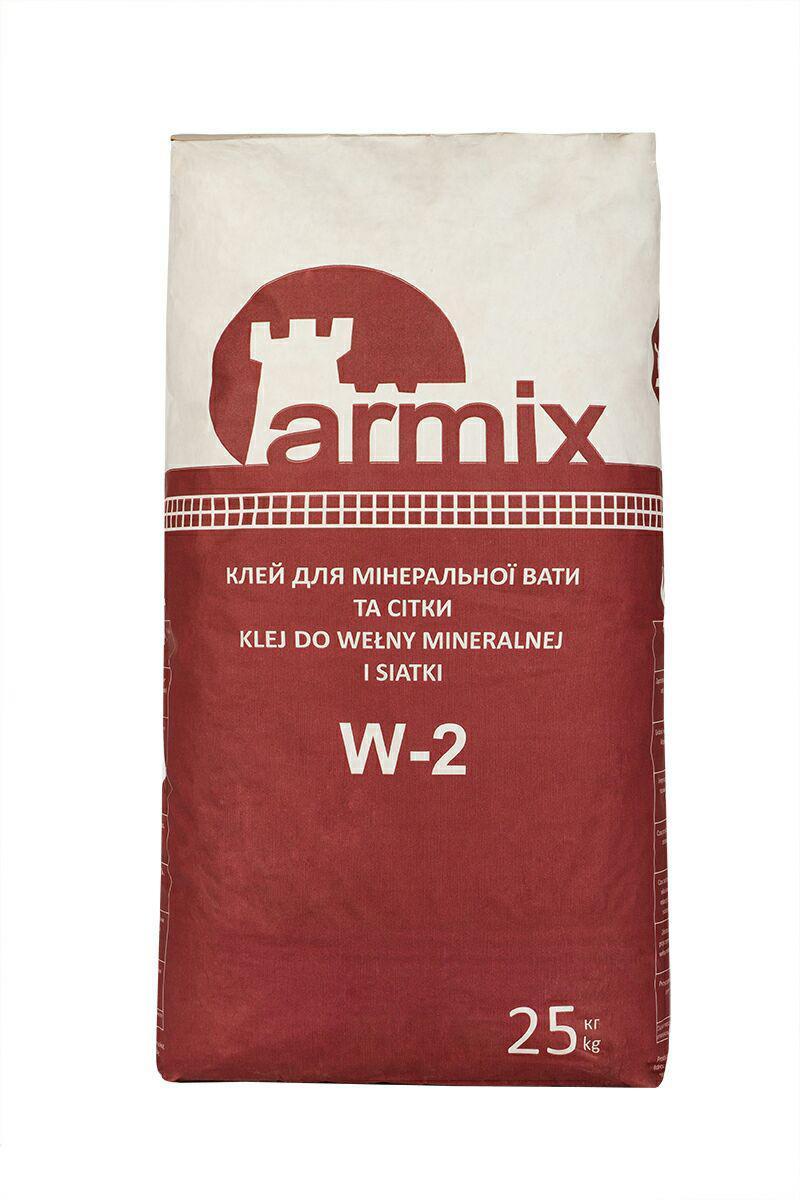 Армуюча суміш для мінвати Armix W-2 клей для сітки Армікс В-2, 25кг