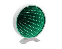 Бесконечное зеркало Infinity Mirror Световой тунель Круг со свечением разных цветов зеленый