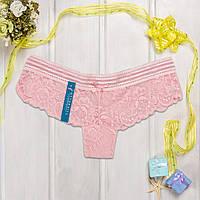 Розовые шортики полупрозрачные кружевные Cotton Hill CH4366_Pudra