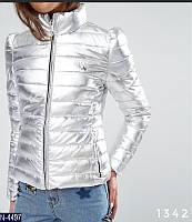 Женская стильная серебряная куртка новинка 2018