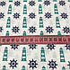 Хлопковая ткань польская синие штурвалы и бирюзовые маяки №150, фото 2