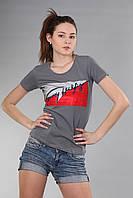 Женская футболка Th 85 серого цвета