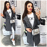 Модное черно-белое пальто , фото 1