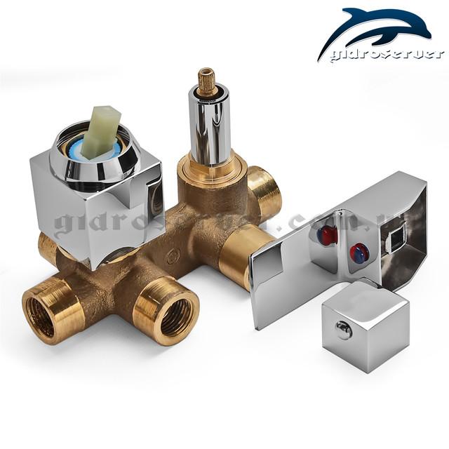 Встраиваемый смеситель KV-03 для душевых систем, гарнитуров, программ скрыто монтируемых в стену сантехнического узла.