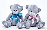 Мягкая игрушка Мишка с заплатками Тедди серый