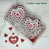 """Набор подвесок ручной работы """"Сердечки-валентинки"""" в подарочной упаковке, фото 1"""
