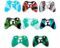 Силиконовые чехлы для джойстиков PS - 3 и  Xbox 360 (камуфляж)(Blue-black)