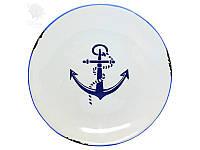 Блюдо Якорь, керамическое Sea Club, h-2,5 см, d-20 см (3938.V)