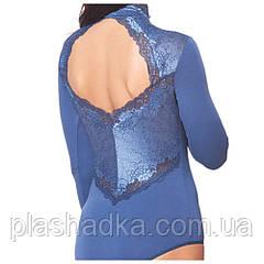 Красивое женское боди, синее