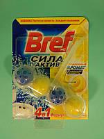 Bref - Туалетные блоки для унитаза Сила Актив (Лимонная свежесть) 50 гр
