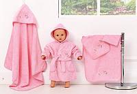"""Набір махрових рушників для купання, рожевий, """"Слоник"""""""