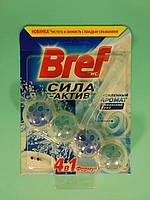 Bref - Туалетные блоки для унитаза Сила Актив (Океанский бриз) 50 гр