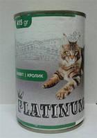 Платинум консервы для котов Кролик  415 г