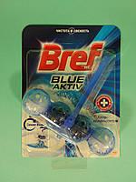 Туалетные блоки для унитаза Сила Актив (С хлор компонентом + Синяя вода) 50гр - Bref