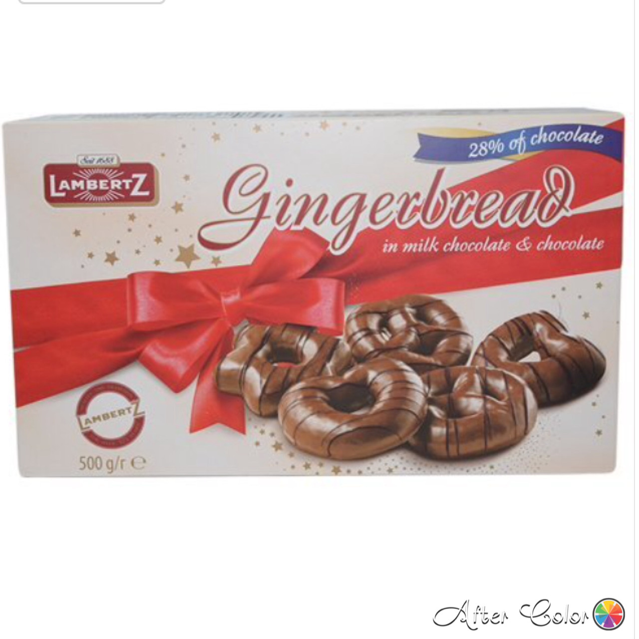 Имбирные пряники Lambertz Gingerbread in Milk Chocolate and Chocolate 500 g